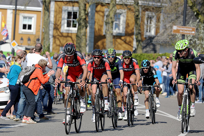 Photo Amstel Gold Race 2015, Cauberg, peloton