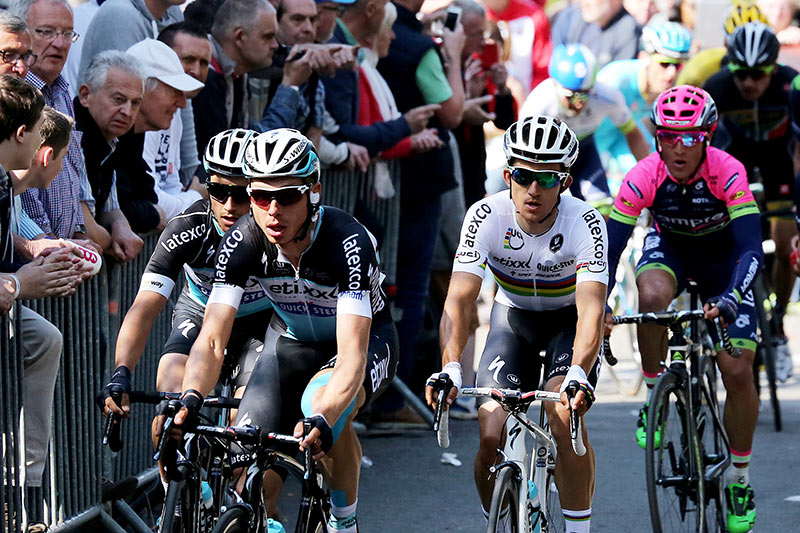 Photo Fleche Wallonne 2015, Tony Martin and Michal Kwiatkowski