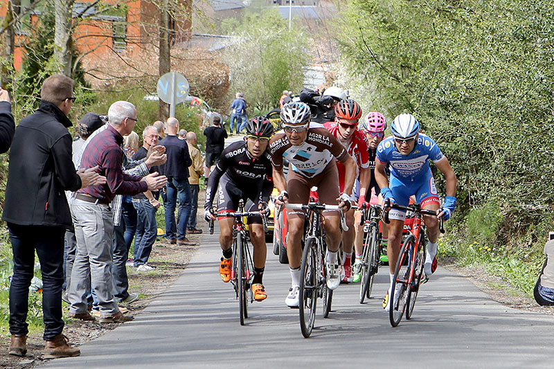 Photo Liege - Bastogne - Liege 2015, leading group on Stockeu