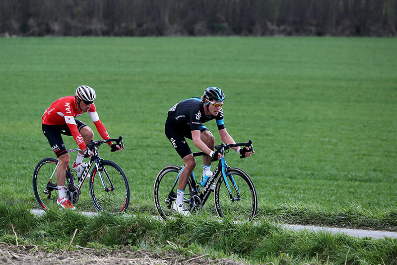 Photo RVV 2015, Luke Rowe and Martin Elmiger