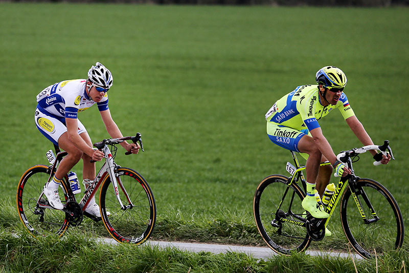 Photo RVV 2015, Matteo Tossato and Jelle Wallays