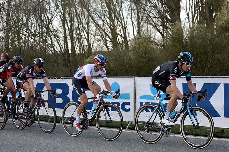 Photo RVV 2015, Geraint Thomas and Zdenek Stybar