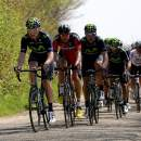 Photo Amstel Gold Race 2015, peloton with Movistar and BMC