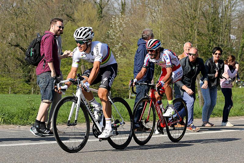 Photo Amstel Gold Race 2015, Michal Kwiatkowski and Daniel Moreno